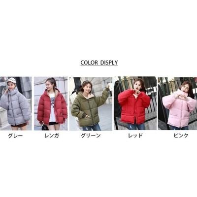 中綿ジャケットダウン風ジャケットアウターレディースショート丈冬服フード付体型カバー暖かい防風防寒シンプルカジュアル軽量