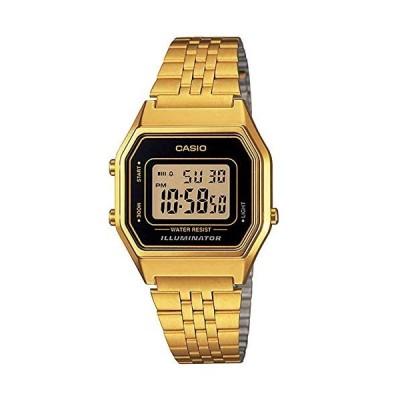 腕時計 カシオ レディース LA680WGA-1D Casio Ladies Mid-Size Gold Tone Digital Retro Watch LA-680WGA-