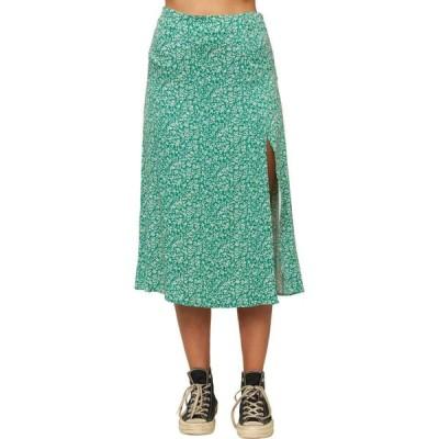 オニール O'NEILL レディース ひざ丈スカート スカート Tribiani Ditsy Midi Skirt Jade