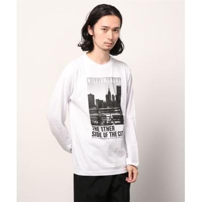tシャツ Tシャツ フォトプリント ロンT