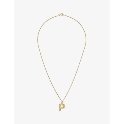 コンプリートワークス COMPLETEDWORKS レディース ネックレス Letter P 14Ct Yellow Gold-Plated Vermeil Sterling-Silver Pendant Necklace GOLD