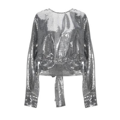 MSGM ブラウス  レディースファッション  トップス  シャツ、ブラウス  長袖 シルバー
