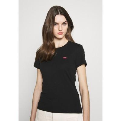 リーバイス Tシャツ レディース トップス BABY TEE - Print T-shirt - mineral black