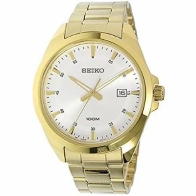 腕時計 セイコー メンズ SEIKO-Quartz Gents Gold Plated Bracelet Watch