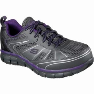 スケッチャーズ スニーカー Work Synergy Algonac Alloy Toe Sneaker Charcoal/Purple