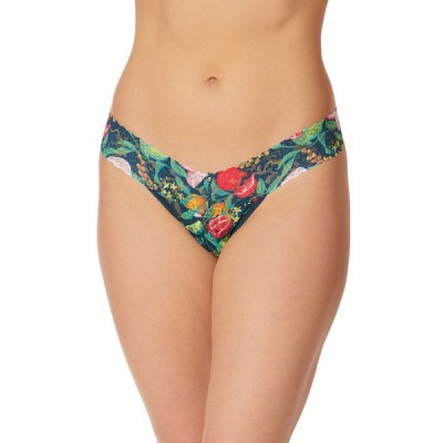 ハンキーパンキー レディース パンツ アンダーウェア Tropical Delight Low-Rise Printed Lace Thong