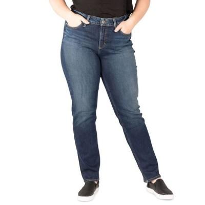 シルバー ジーンズ レディース デニムパンツ ボトムス Plus Size Avery High-Rise Straight-Leg Jeans