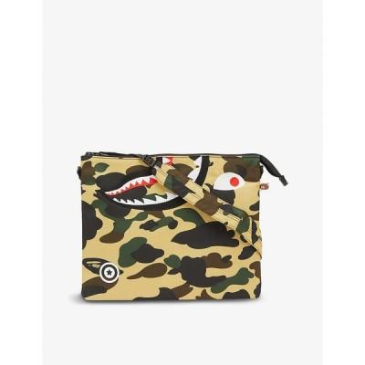 ア ベイシング エイプ A BATHING APE メンズ ショルダーバッグ バッグ Camouflage-print woven shoulder bag YELLOW