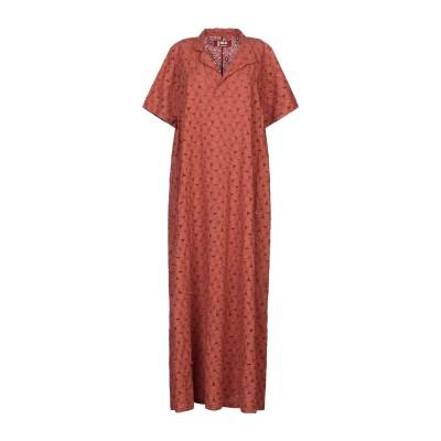 LABO.ART ロングワンピース&ドレス ブラウン 2 コットン 100% ロングワンピース&ドレス