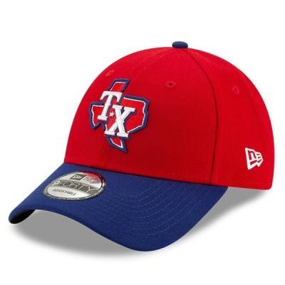 """ニューエラ メンズ キャップ """"Texas Rangers"""" New Era Alternate 3 The League 9FORTY Adjustable Hat - Red"""