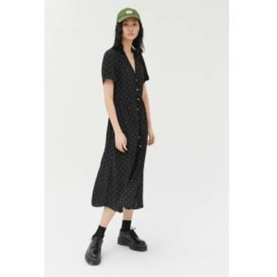 アーバンアウトフィッターズ Urban Outfitters レディース ワンピース シャツワンピース ワンピース・ドレス uo mila midi shirt dress B