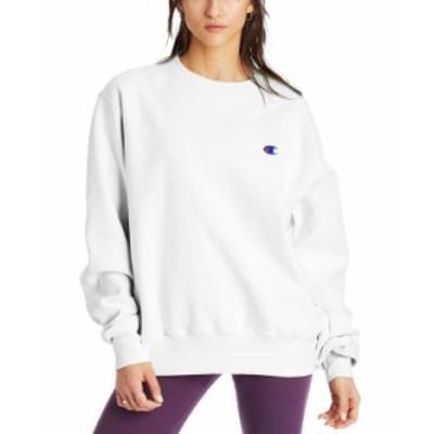 チャンピオン レディース シャツ トップス Women's Boyfriend Logo Sweatshirt White