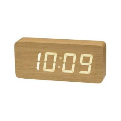 ウッドLED時計7色 ベージュ