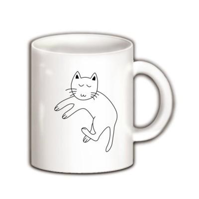 猫まったり マグカップ(ホワイト)
