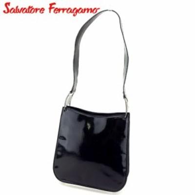 サルヴァトーレ フェラガモ ショルダーバッグ ワンショルダー ヴァラ金具 ブラック Salvatore Ferragamo 中古 T4834