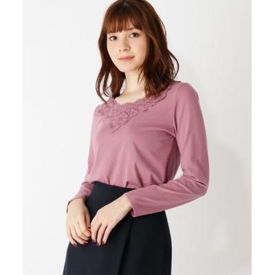 grove / モチーフレースロングTシャツ WOMEN トップス > Tシャツ/カットソー