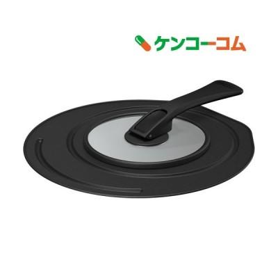 サーモス 折りたたみスタンド式フライパンフタ 20/24cm対応 ブラック KLC-001 BK ( 1個 )/ サーモス(THERMOS)