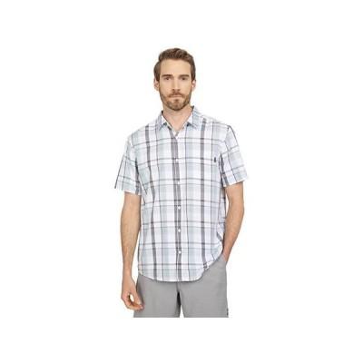 ハーレー Organic Allen Short Sleeve Plaid Woven メンズ シャツ トップス Dark Smoke Grey