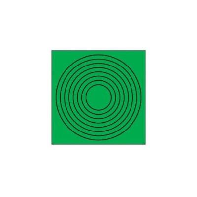 【メール便選択可】ユニット 446-86 ゲージマーカー円形緑 PPステッカー 10枚組