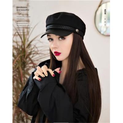💙大好評につSALE延長 ストレートヘア ナチュラル おしゃれな 帽子 ウィッグ付き  女性 冬 ロングヘア イギリス レトロ ベレー帽