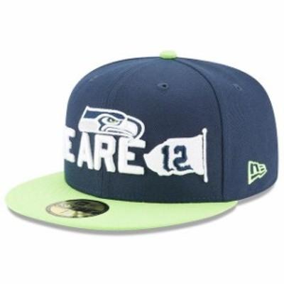 New Era ニュー エラ 服  New Era Seattle Seahawks Navy/Neon Green 2018 NFL Draft Spotlight 59FIFTY Fitted Hat