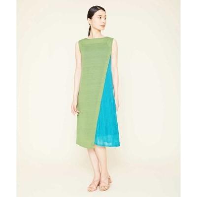 Sybilla / シビラ バイカラーニットドレス