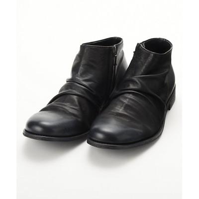 <PADRONE MUSEUM (Men)/パドローネミュージアム> サイドジップショートブーツ -Limited Model-(8395‐1205) 90・ブラック【三越伊勢丹/公式】