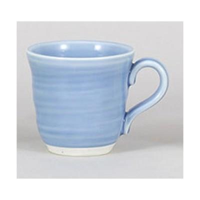 マグカップ パステルブルーマグ [12.4 x 9.4 x 8.8cm 320cc]  料亭 旅館 和食器 飲食店 業務用