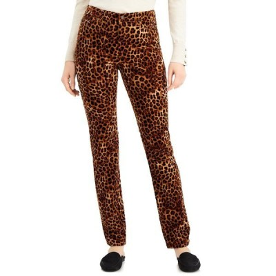 チャータークラブ デニムパンツ ボトムス レディース Tummy-Control Printed Corduroy Pants, Created for Macy's Neutral Combo