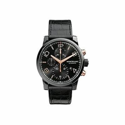 Montblanc Timewalker Black Steel Chronograph Mens Watch 105805