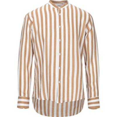 ランバン LAVIN メンズ シャツ トップス linen shirt Camel