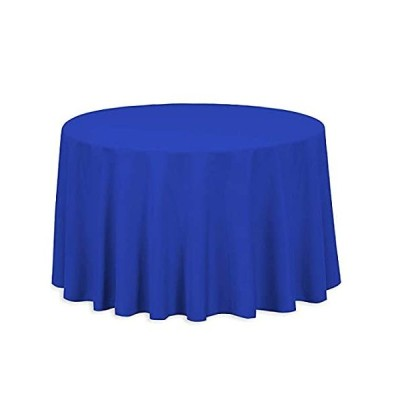 Linenlanding 円形テーブルクロス 120インチ 円形 ポリエステル ウェディング ビュッフェテーブル パーティー 休日のディナー用 (10