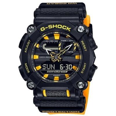ジーショック メンズ 腕時計 アクセサリー Black and Yellow Ana Digi Shock Resistant Watch