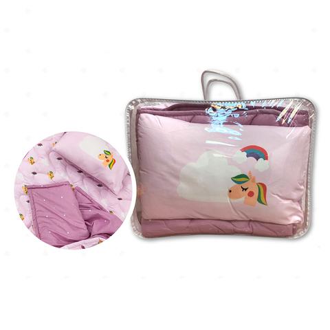 little moni 兒童睡袋三件組-飛翔獨角獸(粉紅色系)