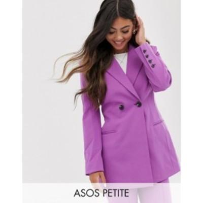 エイソス レディース ジャケット・ブルゾン アウター ASOS DESIGN Petite suit blazer in gen me lilac Lilac
