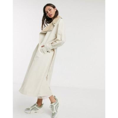 エイソス ASOS DESIGN レディース トレンチコート アウター double layer oversized trench coat in stone ベージュ