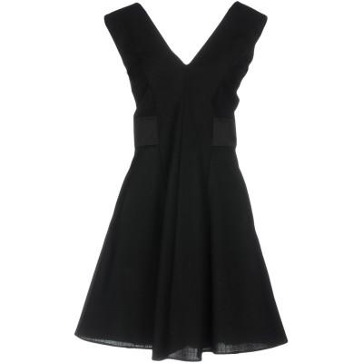 ツインセット シモーナ バルビエリ TWINSET ミニワンピース&ドレス ブラック 44 ポリエステル 52% / ウール 44% / ポリウレタ