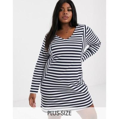 ジュナローズ レディース ワンピース トップス Junarose stripe shift dress Stripe