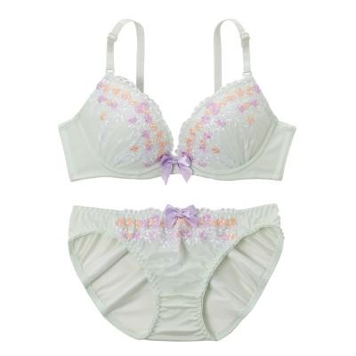 フェミニンブーケ ブラジャー。ショーツセット(D75/M) (ブラジャー&ショーツセット)Bras & Panties