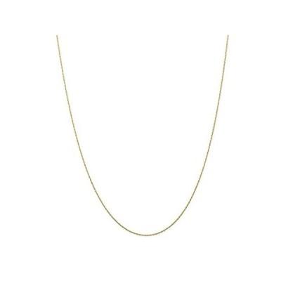 【新品】10K イエローゴールド 0.5mm ケーブルリンク ロープチェーンネックレス 18インチ ペンダントチャーム カード入り 女性用ギフト