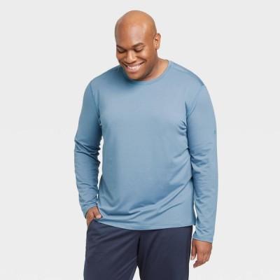 オールインモーション All in Motion メンズ フィットネス・トレーニング 長袖Tシャツ トップス Long Sleeve Performance T-Shirt - Blue Gray