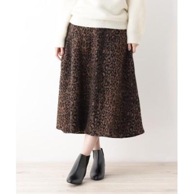 grove(グローブ) レオパードAラインスカート