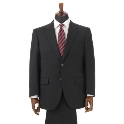 スタイリッシュスーツ【キング&トール】【就活】【黒無地】【ツーパンツ】
