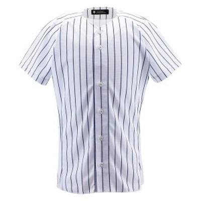 DESCENTE ヤキュウ ソフト ユニフォームシャツ フルオープンシャツ(ピンストライプ) 16SS SWNV ヤキュウユニホーム(db7000-swnv)