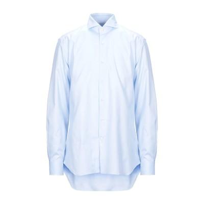 LABORATORIO DEL CARMINE シャツ スカイブルー one size コットン 100% シャツ