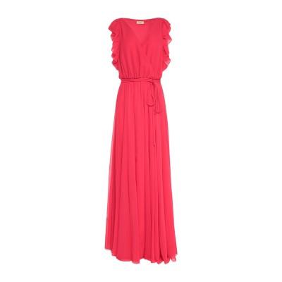 リュー ジョー LIU •JO ロングワンピース&ドレス レッド 44 ポリエステル 100% ロングワンピース&ドレス
