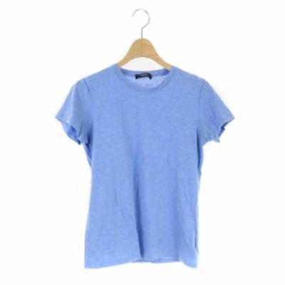 【中古】セオリー theory 19年製 APEX TEE Tシャツ カットソー 無地 半袖 S 青 ブルー /HS ■OS レディース