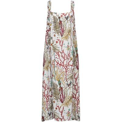CAMICETTASNOB 7分丈ワンピース・ドレス ホワイト 44 レーヨン 7分丈ワンピース・ドレス