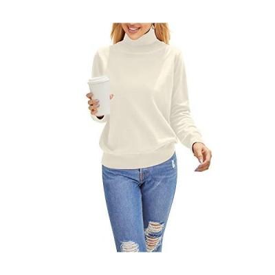 WANLISS レディース タートルネックセーター 暖かいプルオーバー 長袖セーター US サイズ: XX-Large カラー: ベージュ並行輸入品
