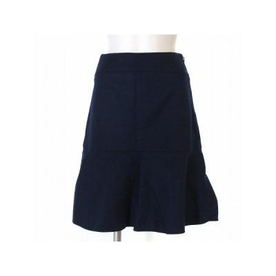 【中古】ボールジー BALLSEY トゥモローランド スカート 膝丈 フレア ウール 青 ブルー 34 ボトムス レディース 【ベクトル 古着】